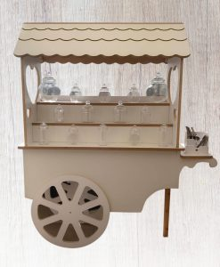 sweet trolley hire for wedding