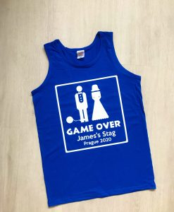 game over stag do vest
