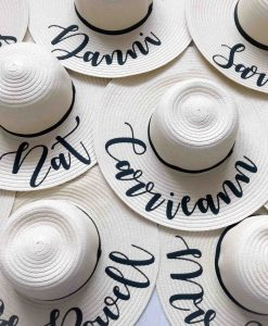 personalised light hen do sun hats