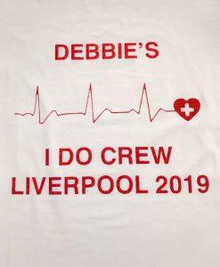 I do crew tshirt text