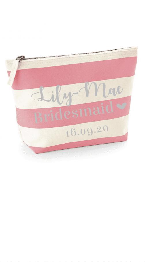 personalised bridesmaid accessory bag