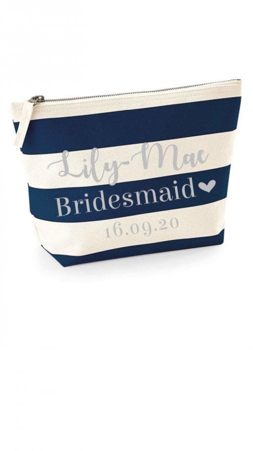 personalised accessory bag for bridesmaid