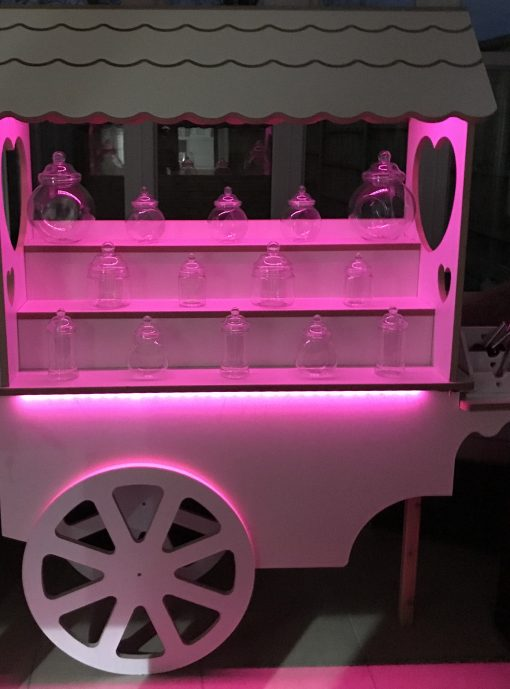sweet cart to hire for wedding