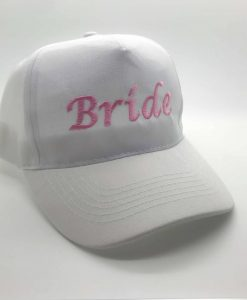 bride squad embroidered cap