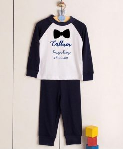 personalised pyjamas for page boy.