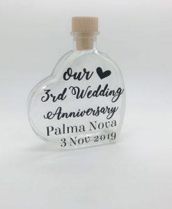 wedding anniversary sand jar