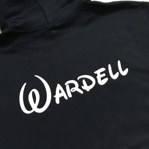personalised black disney hoodie for honeymoon