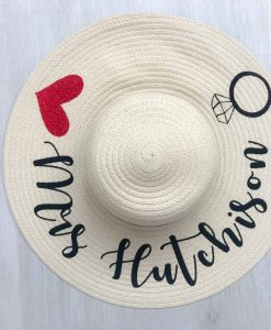 personalised mrs sun hat