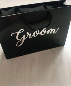 personalised groom gift bag