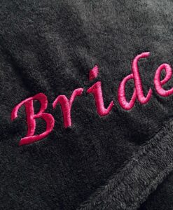 personalised embroidered towelling robe
