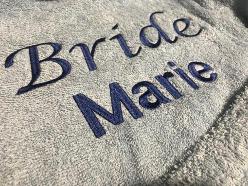 bride towelling robe