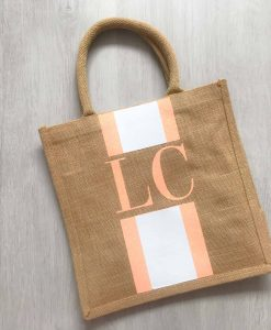 personalised jute bag for bridesmaids