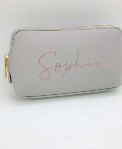 personalised grey purse