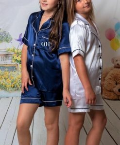 childrens personalised satin pyjamas