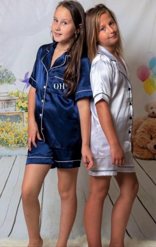 childrens personalised satin pyjamas