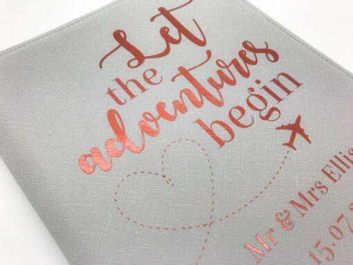 honeymoon passport cover