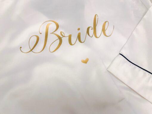 satin bride pyjamas long