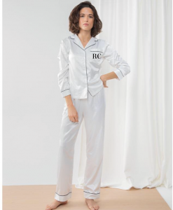 personalised monogram bridesmaid pyjamas