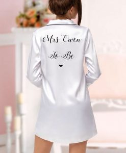 mrs to be satin nightshirt white