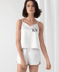 short satin bridesmaid pyjamas