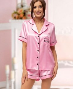 personalised short bridesmaid pyjamas