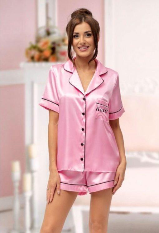 personalised short bridesmaid pyjamas