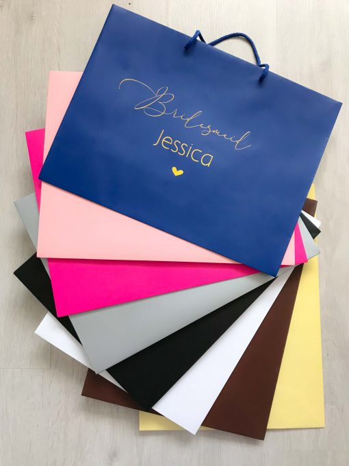 personalised name gift bags for bridal party