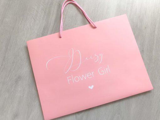 flower girl gift bag pink