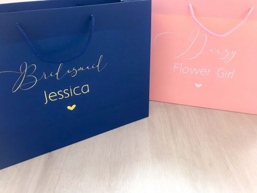 flower girl and bridesmaid gift bags