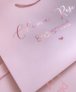 personalised gift bag pink