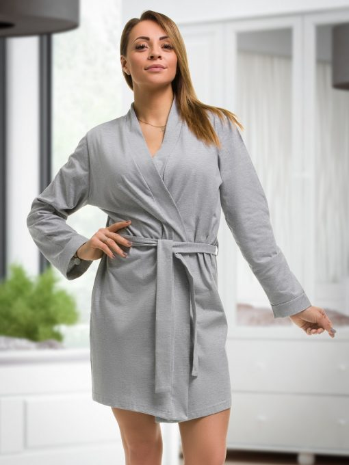 wedding role grey cotton robe