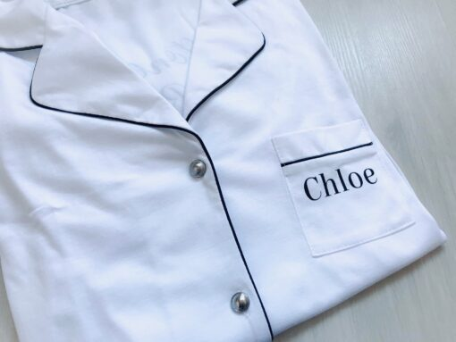 personalised monogram cotton nightshirt