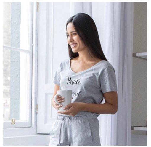 bride squad pyjamas grey