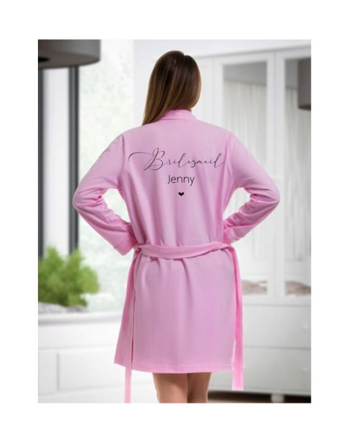 personalised cotton robe for bridesmaid