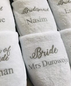 slippers for bridal party