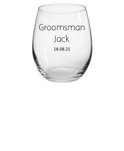 groomsman personalised glass