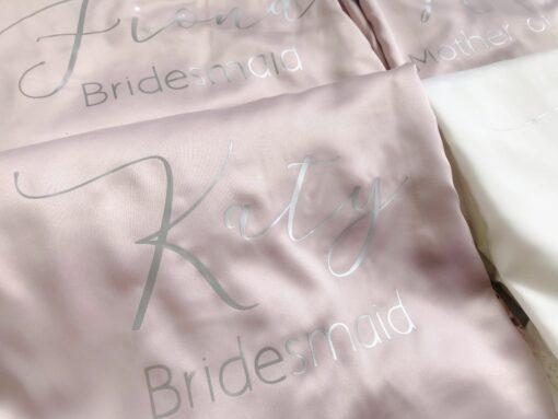 silk bridesmaid dressing gown