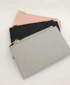 grey personalised purse