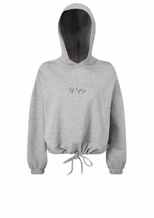 wifey hoodie in grey