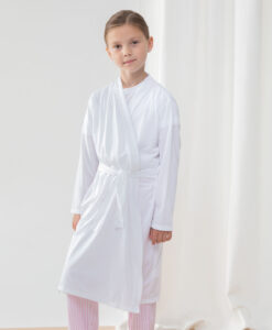 white childrens personalised dressing gown