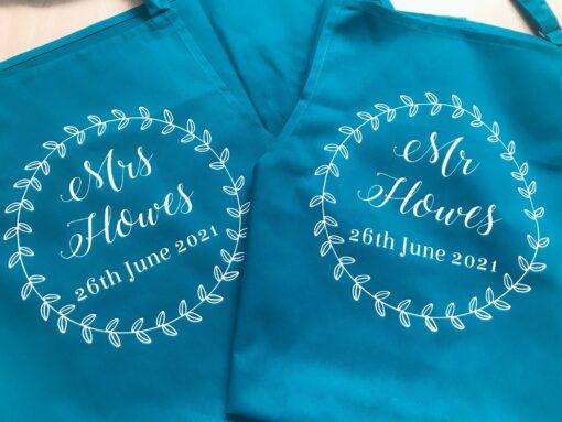 personalised wedding apron