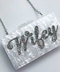 wifey pearl clutch